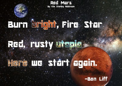 """Ben Liff reviews """"Red Mars"""""""
